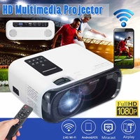 2019 Newest Mini Portable Projector Video Beamer for Home Cinema Support HD Wireless Sync Display For Smart Phone