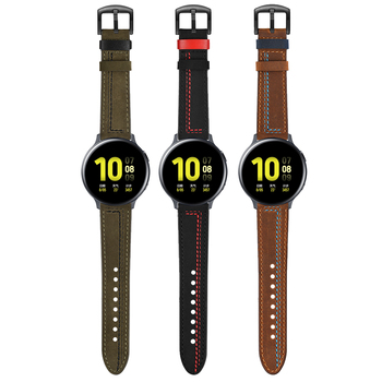 Luxury Leather Wrist Strap For Samsung Active 2 44mm 40mm/Galaxy Watch 46mm 42mm/Gear Sport/S3 Band Bracelet Watchbands 20/22mm