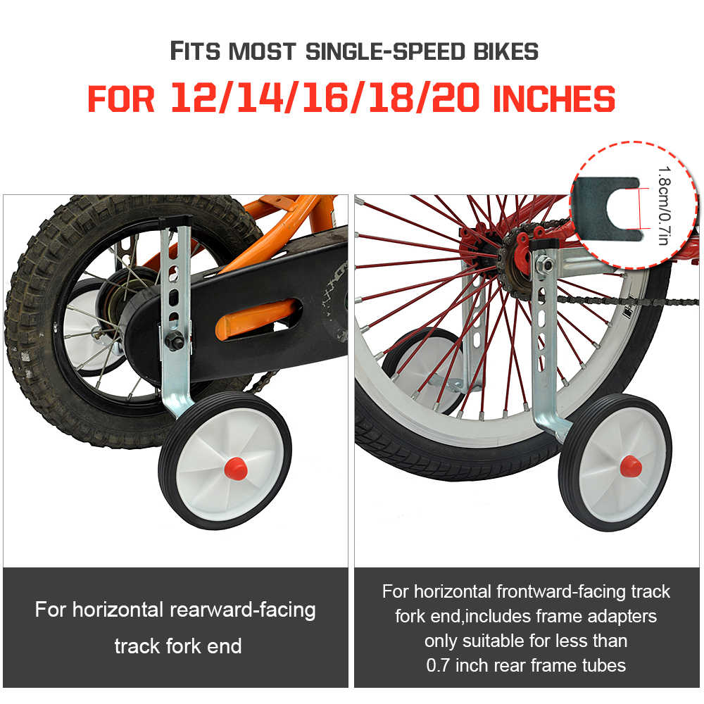 Adjustable Bike Training Wheels For 12 14 16 18 20 Inch Single Speed Bicycle Universal Bicycle Stabilisers Kids Wheel Stabiliser Aliexpress