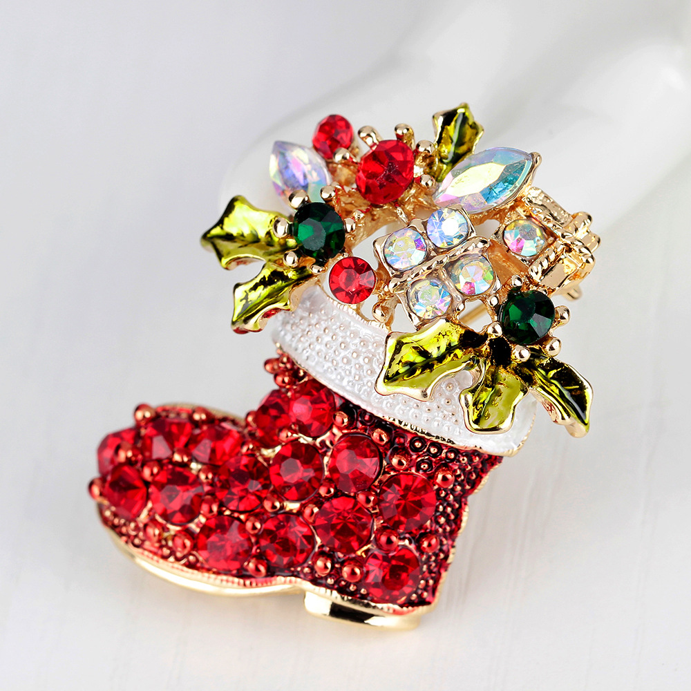 JUJIE Christmas Brooch Series For Women Men Brooches Pins Deer Shoes Christmas Tree Bells Jewelry Wholesale/Dropshipping 3