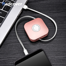 PADCOVER  3 in 1 Retractable USB Cable For iPhone X 7 8 Plus Mobile Phone Type C Micro Xiaomi Huawei Samsung