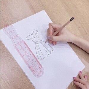 Image 4 - Женская модная дизайнерская линейка, оригинальная Женская одежда, модель человеческого тела, женский шаблон, линейка, подходит для бумажного дизайна формата А4