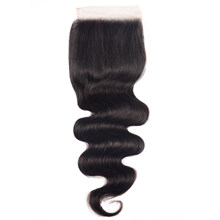 Unice Hair 4x4 chiusura in pizzo capelli brasiliani dell'onda del corpo 5x5 HD chiusura in pizzo capelli umani Remy neri naturali 10-18 pollici