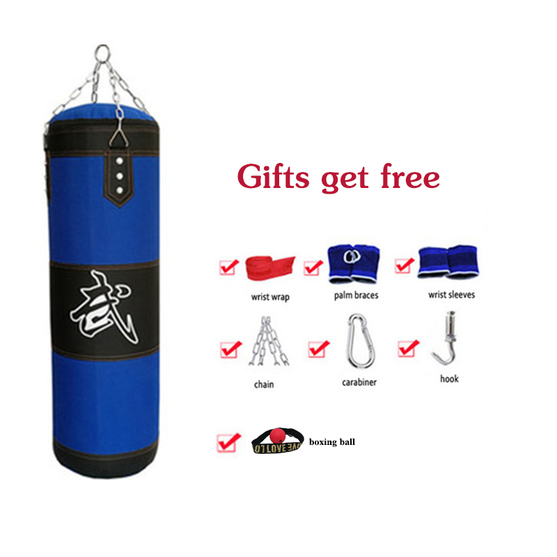 Empty 80//100//120cm Heavy Hanging Punching Kick Bag Boxing MMA Training Sandbag