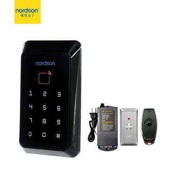 Nordson Wireless Access Control System KIT With Access Control Reader Remote Control Power Supply Exit Button Keytag ID Card цена 2017