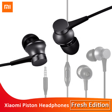 Original Xiaomi Piston In-ear Earphones Fresh Version Aluminium alloy earbud HD mic Original For xiaomi earphone Android and iOS original xiaomi piston colorful version in ear earphone headset microphone headphone for iphone xiaomi