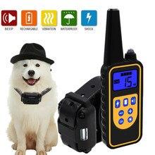 Elektryczna obroża do szkolenia psa wodoodporny pilot zdalnego sterowania na akumulator Pet z wyświetlaczem LCD dla wszystkich rozmiarów dźwięk wibracji wstrząsów