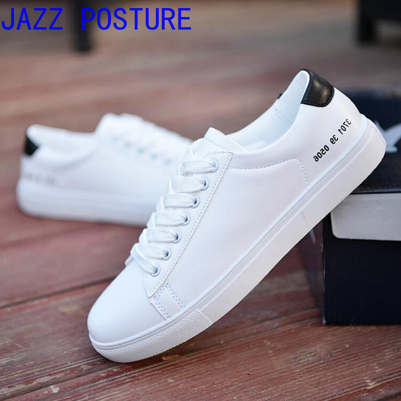 Shoes Men White-Board-Shoes Casual New Trend Small Q408 Boys Breathable Wholesale Student title=