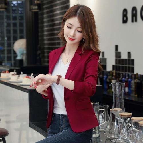 Autumn Korean Version Women Blazer Jackets New Style One Button And Xxxl Work Wear Female Fashion Temperament Casual Tops