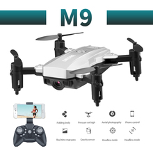 M9 Mini profissional 2019 newest camera drone 1080p HD WiFi FPV Brush motor propeller Battery air RC dron Quadcopter