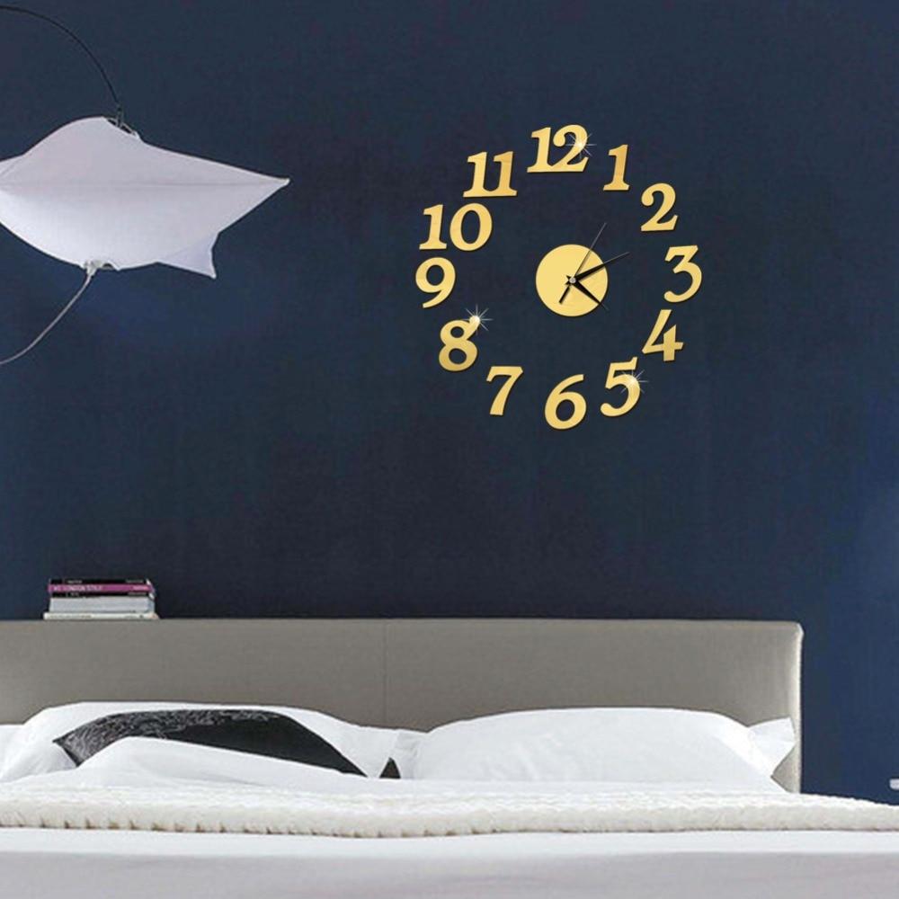 3D Wall Clock Mirror Wall Stickers Fashion Living Room Quartz Watch DIY Home Decoration Clocks Sticker reloj de pared 5