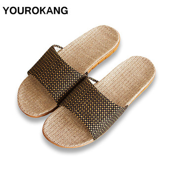 Summer Men Home Slippers Fashion Cool Male Linen Slipper Antiskid Lightweight Indoor Floor Couple Lovers Shoes New Arrival 2016 home slippers women indoor floor flax slippers men breathable linen slipper home bedroom slippers women shoes awm116