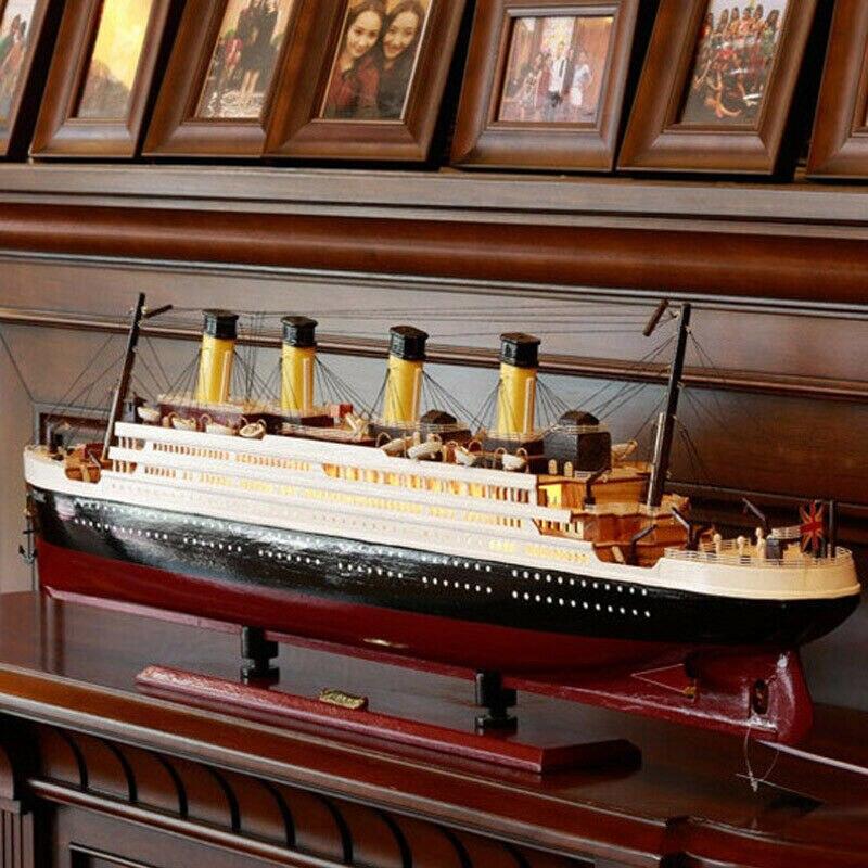 Modelo titanic navio terminado veleiro de madeira decoração sala de estar simulação navio de cruzeiro acessórios para casa
