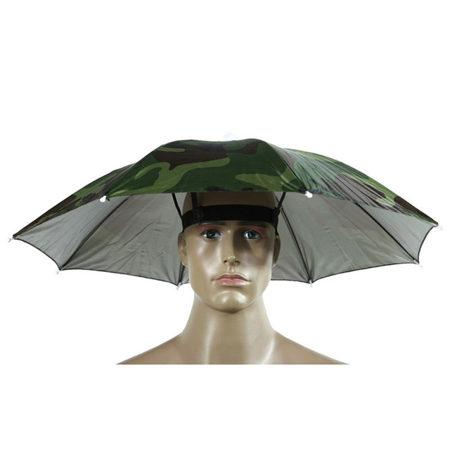 Fishing Caps Sport Umbrella Hat Outdoor Hiking Camping Headwear Cap Head Hats Camouflage Foldable Sunscreen Shade Umbrella 1