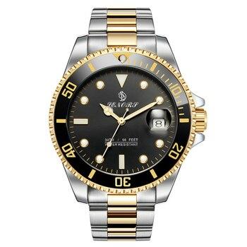 Brand Luxury Men Watches Automatic Black Watch Men Stainless Steel Waterproof Business Sport Mechanical Wristwatch Sub Mariner