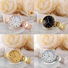 Fashion Elegant Metal Band Analog Quartz Round Wrist Watch W