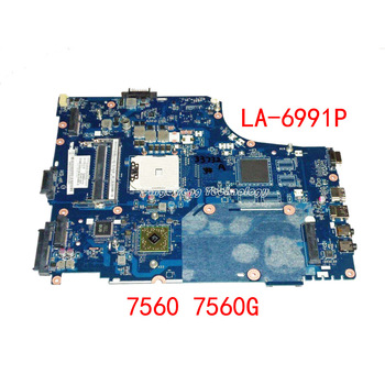 HOLYTIME laptop Motherboard For Acer 7560 7560G MB.BUX02001 P7YE5 LA-6991P DDR3 Rev 1.0 100% fully tested