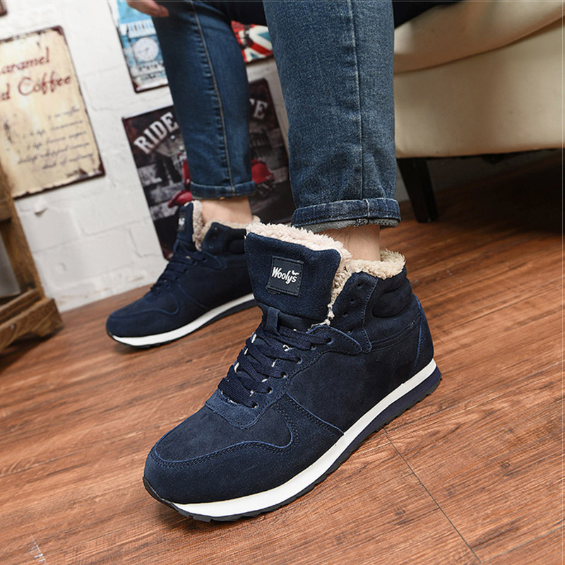 Men Shoes Winter Sneakers Suede Leather Tenis Trainers Mans Footwear Warm Winter Shoes Basket Homme Mens Shoes Casual Plus Size 4