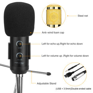 Image 2 - FELYBY Bm 900 Condenser Microphone Professional Karaoke Studio Microfone for Laptop/PC Recording,Broadcasting(USB+3.5mm Cable)