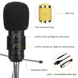 Image 2 - FELYBY Bm 900 הקבל מיקרופון מקצועי קריוקי סטודיו Microfone עבור מחשב נייד/מחשב הקלטה, שידור (USB + 3.5mm כבל)