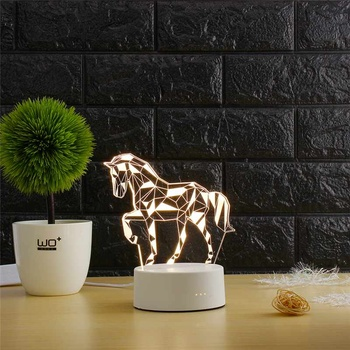 3d led table lamp for home and office decoration