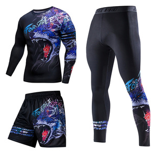 Image 3 - ZRCE chándal de estilo chino para hombre, ropa deportiva de compresión para gimnasio, para correr y trotar