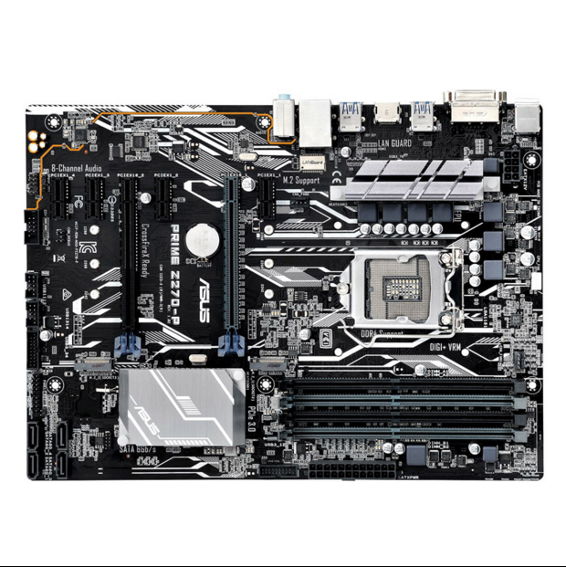 ASUS PRIME Z270-P Desktop Motherboard Z270 <font><b>1151</b></font> DDR4 64GB m.2 support <font><b>I7</b></font> 7100 7500 7600K <font><b>7700K</b></font> used 90%new image