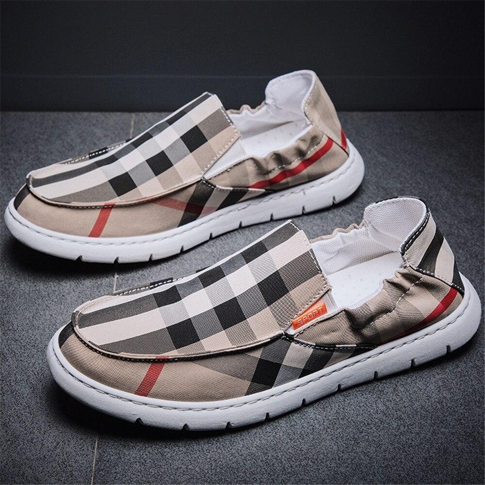 OLOMM Street Trend Men's Casual Shoes Breathable Light Men Canvas Shoes Outdoor Soft Bottom Men Vulcanize Shoes Zapatos Hombre