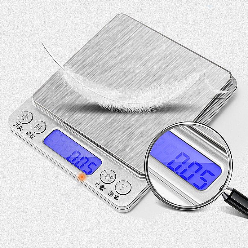 500/0.01 г 1 кг/2 кг/3000g/0,1g ЖК-дисплей Портативный мини электроные цифровые весы карманные чехол Почтовый Кухня Jewelry Вес балансовый масштаб