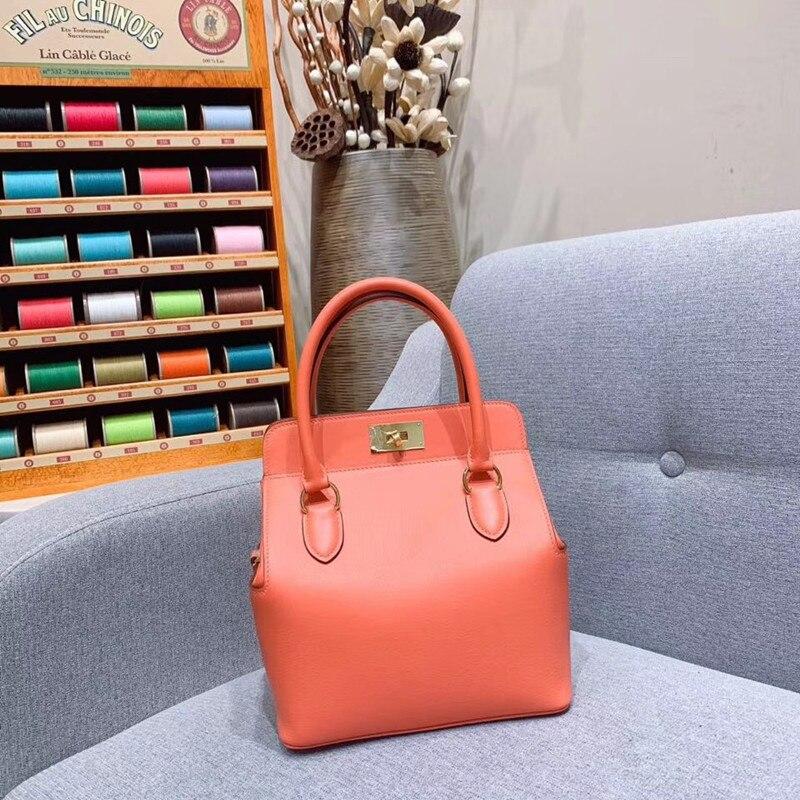 Women Bag Runway Genuine-Leather Luxury Handbags Top-Quality Desigin Brand of Female