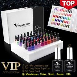 #61508 2019 nuevo 60 color de moda esmalte de gel Venalisa color vernish esmalte de gel para el diseño de Arte de uñas conjunto completo kit de aprendizaje de gel de uñas