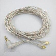 เปลี่ยน MMCX Audio CABLE สำหรับ Shure SE535 SE215 SE425 SE315 SE846 สำหรับ Logitech UE900 สำหรับ Westone W40 หูฟังสายเคเบิลอะแดปเตอร์