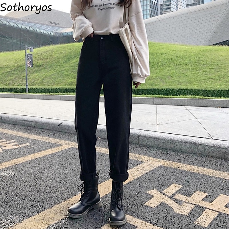 Jeans Women Denim Comfortable Slim-fit All-match Outwear Outfit Womens Straight Trendy Basic Korean Style Casual Full Length New