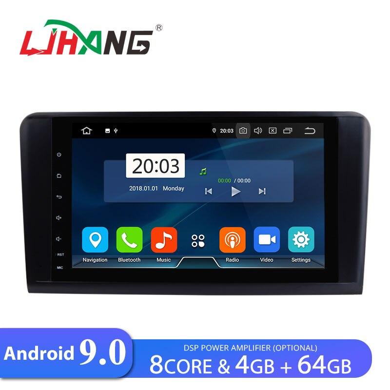 Lecteur DVD de voiture Android 9.0 LJHANG 9 pouces pour Mercedes/Benz W164/ML300/ML350/ML500/GL320 WIFI GPS Navi 2 Din autoradio automobile