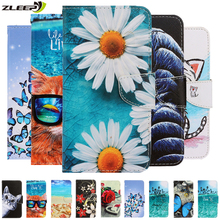 3D Cartoon Printed Leather Phone Case For iPhone