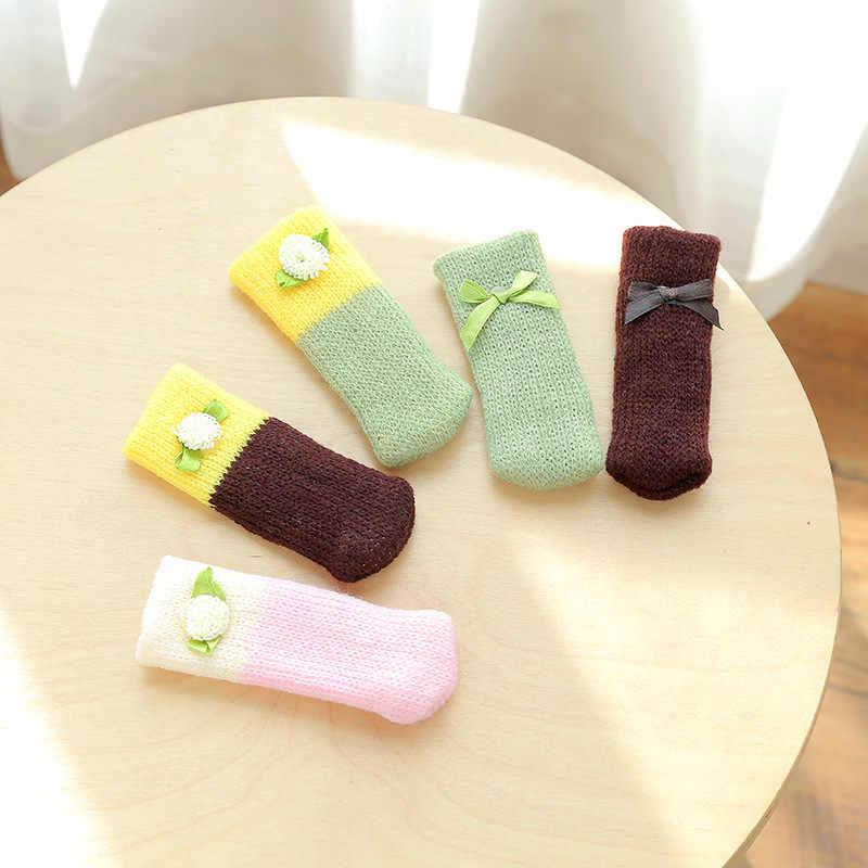 Mode 4 pièces/ensemble anti-dérapant meubles jambes tapis pour chaise chaussettes pare-chocs amortisseur Table pieds tapis casquettes feutre tampons tricot protecteur