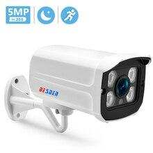 BESDER cámara IP H.265 de 5MP/3MP, carcasa de Metal, impermeable, para exteriores, CCTV, IR, visión nocturna, vigilancia de vídeo de seguridad ONVIF P2P