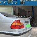 Utiliser pour BMW série 3 E46 spoiler 1999-2004 ans réel brillant en fibre de carbone aile arrière R style sport accessoires kit de carrosserie
