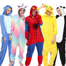 Kigurumi Unicorn Pajamas Animal Adults Winter Sleepwear Stitch Panda Pyjamas Women Onesie Anime Costumes Jumpsuit
