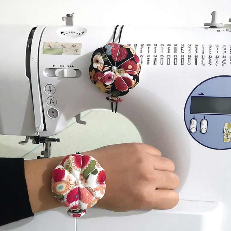 Pompoen Bal Vormige Naald Pin Kussen Pols Speldenkussen Polsband Stitch Handwerken Naaien Pin Mat Diy Ambachtelijke Naaien Leveringen
