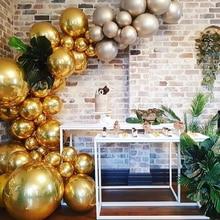 3/5 pcs/lot 4 D Balloon Birthday Decoration Ins  Aluminium Foil birthday balloons Happy