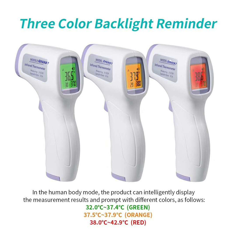 Baby Adult Head Infrared Thermometer Non-contact Body Thermometer Forehead Digital Portable Baby Termometro Digital 2