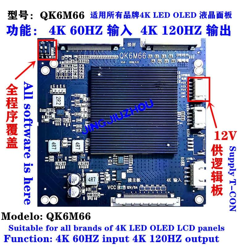 LCD TV Panel 2K 4K 60Hz 120Hz Adapter 2K Input 4K Output LCD Panel Image Flip  QK6M66 QK6M60 QK-72333 QK-6M60 QK-NT72336