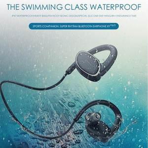 Image 2 - ORIGINAL X9 8G MP3หูฟังบลูทูธIPX7ว่ายน้ำกันน้ำกีฬาหูฟังBass HiFiหูฟังพร้อมไมโครโฟนHD