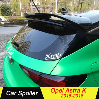 For Opel Astra K Spoiler ABS Material Car Tail Wing Decoration Primer Color Rear Spoiler For Opel Astra K Spoiler 2015-2018