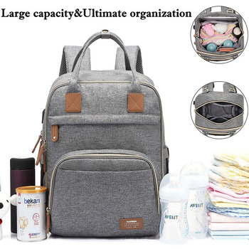 Diaper Bag Backpack Multifunction Travel Back Pack USB Port Maternity Baby Changing Bags Nappy Mother Bag цена 2017