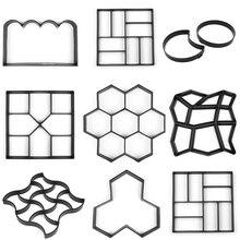 Многоразовые формы для асфальтоукладчиков PP смолы пластиковые формы для керамической плитки кирпич камень цемент бетонные формы ходьбы плесень граница производитель для сада