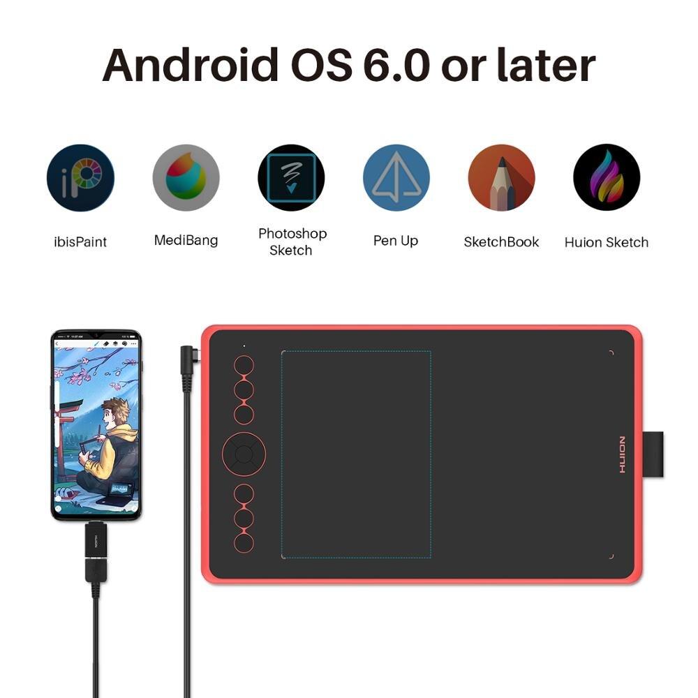 Huion H320M Grafik, Zeichnung, Tablet und LCD Digitalen Schreibtafel Tablet HadWriting Pad mit Batterie freies Stylus für Android /PC - 4