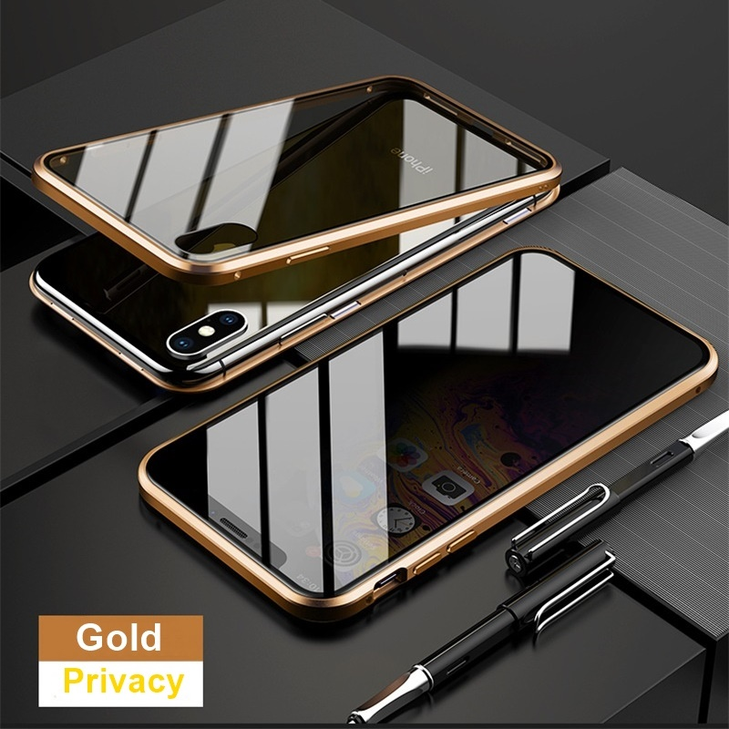 H0c2a3a99fe0049eebbf66cc5518ecbcf3 Tongdaytech Privacy Magnetic Case For Iphone XS XR X 6s 6 7 8 Plus 11 Pro MAX Magnet Metal Tempered Glass Cover 360 Funda Cases