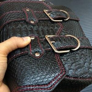 Image 5 - حقيبة سرج من جلد البولي يوريثان للدراجات النارية ، حقيبة أدوات جانبية ، تخزين لهارلي سبورتستر 883 1200XL ، وحدتان